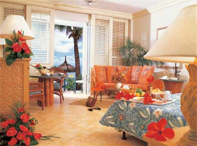 Carribean Getaway Decorated Using A Complementary Color Scheme