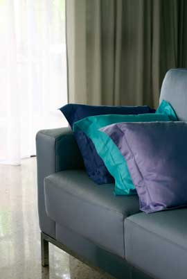 Subtle Use Of Analogous Color Scheme With The Violet Blue And