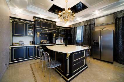Black and Whte Kitchen Color Scheme