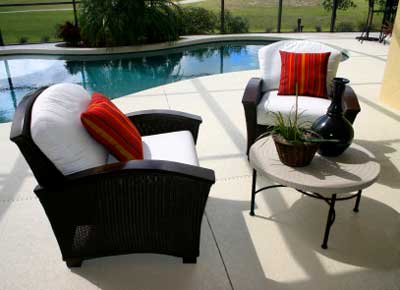 Red Cushions Liven up Black and White Chairs