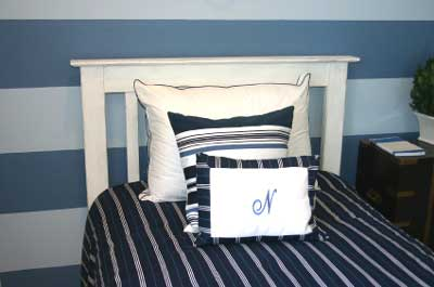 Basic Blue and White Boy's Bedroom