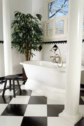 Black And White Bathroom Color Scheme