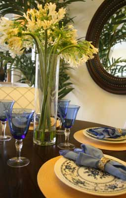 Blue and Yellow at the Dining Table