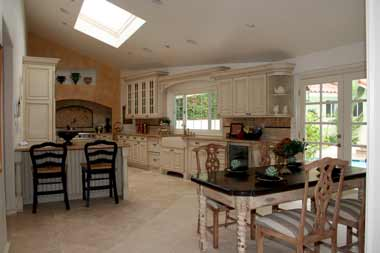 Sloping Ceiling Kitchen Idea Detailed Design Photo Example