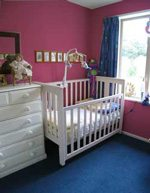 Check out wall color option for a baby's nursery.
