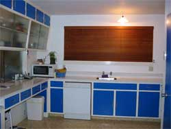 The existing kitchen layout worked well but it was outdated.