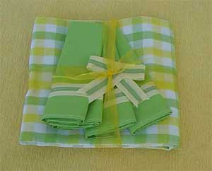 Finished picnic cloth and napkins.