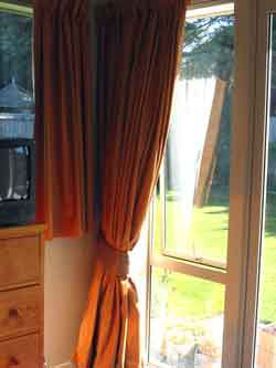 There you have it. A simple way to Jazz up your curtains.