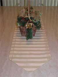 Table Runner with Christmas Decoration Centerpiece