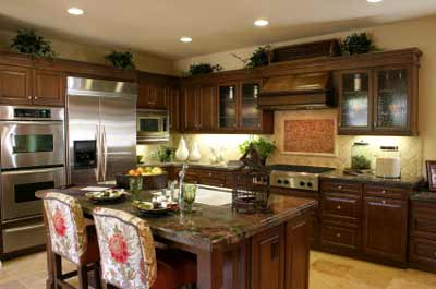 multiple interior finishes used in this kitchen