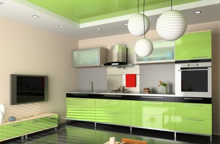 Learn to create great kitchens like this using the interior decorating advice from interiordezine.com