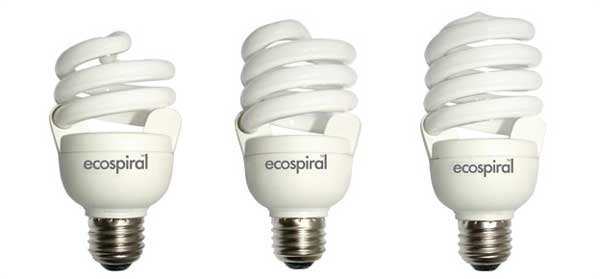 energy efficient lighting - ecospiral