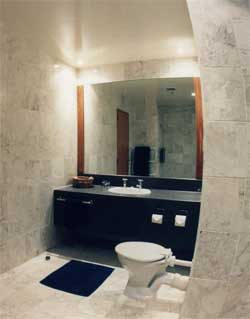 Marble Achromatic Color Scheme Bathroom