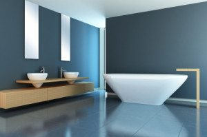 Minimalist designed bathroom