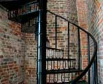 Stair Design Photo - Brick Wrought Iron Spiral Staircase