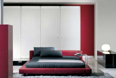 Ultra Modern Furniture on Colors With Red Bed Comfortable Matress And Fashion Bedroom Furniture
